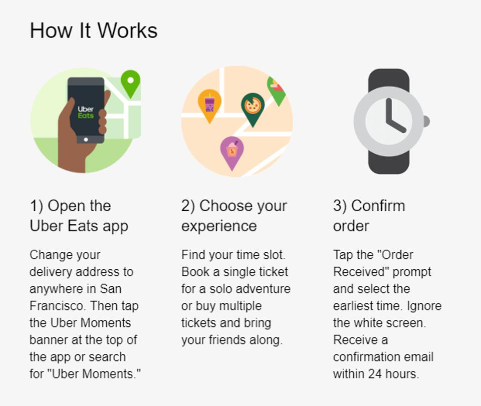 Uber Moments instructions