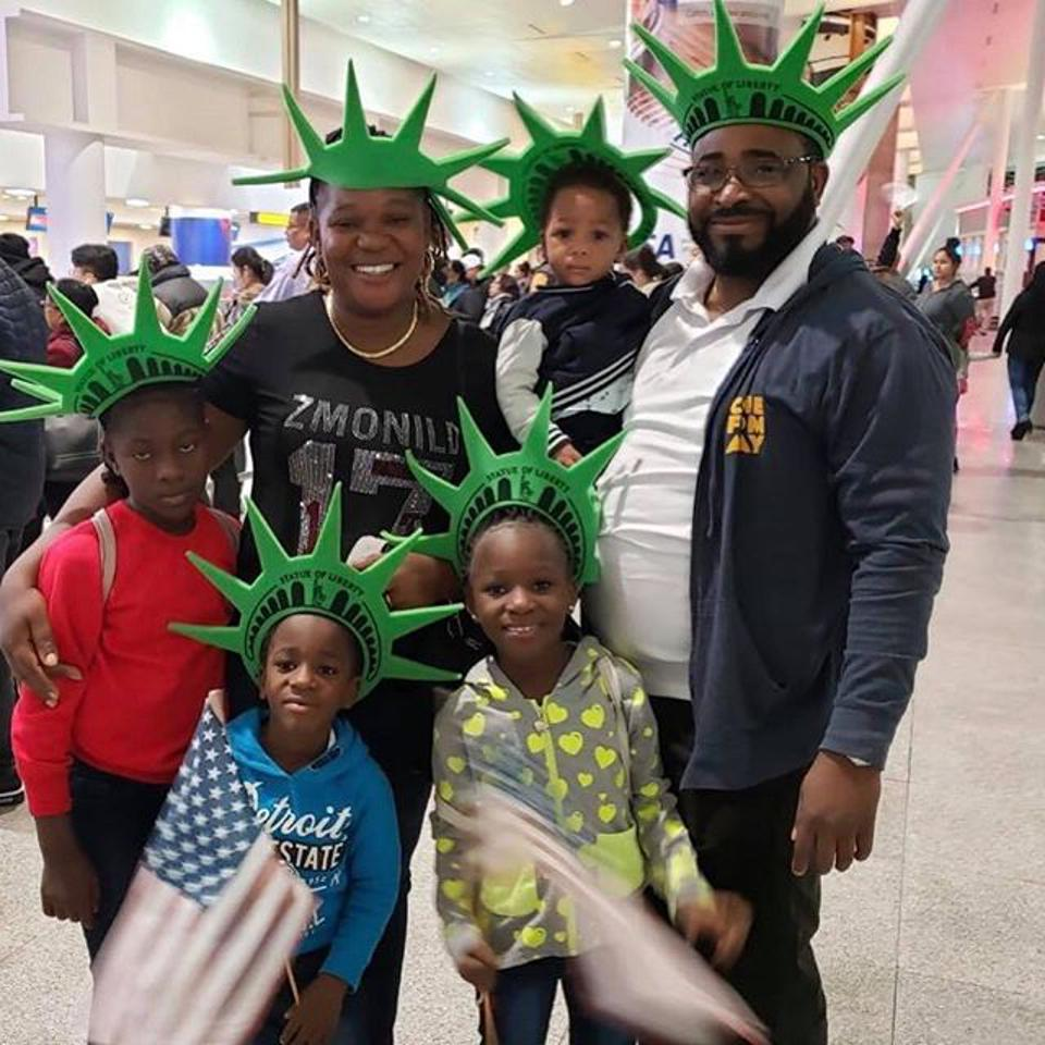 ″A father's role is to guide to a better future. Being separated from [my kids] was like taking their home away from them. Our lives were divided. [Reuniting with my kids was] inexplicable joy.″ -Sam, West African refugee, granted asylum in the US and flown by #Miles4Migrants to his new home