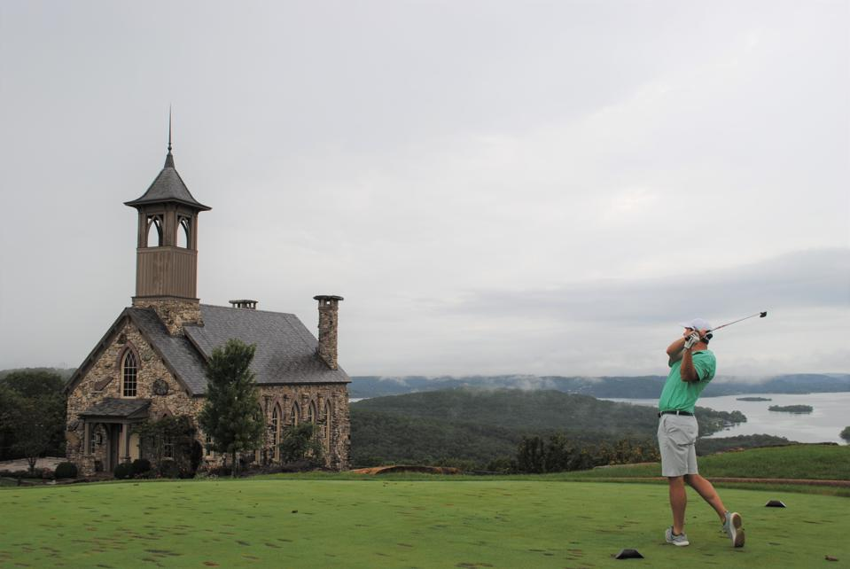 The opening hole at Top of the Rock