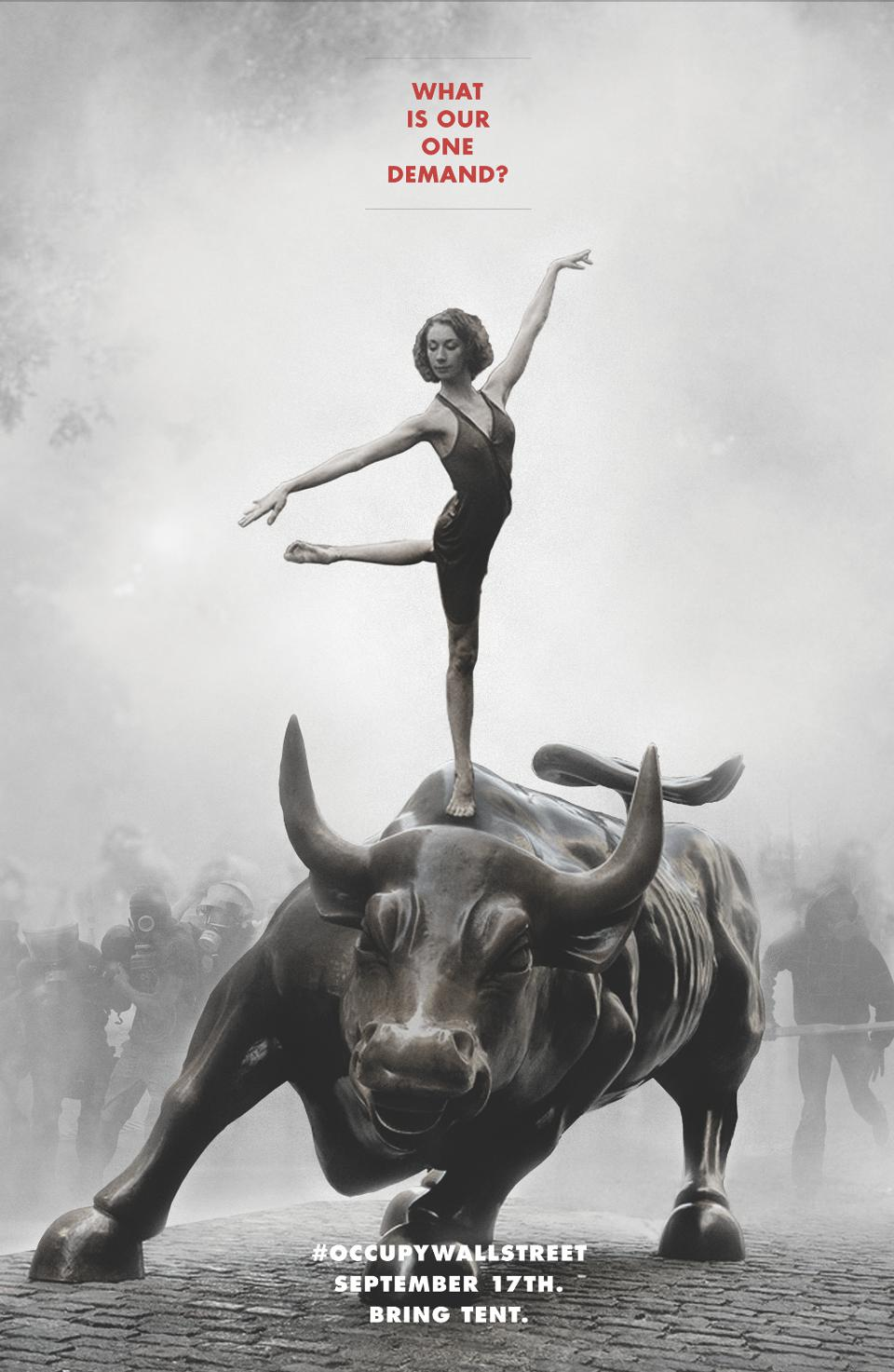 Occupy Wall Street. Poster by Will Brown for Adbusters, 2011.