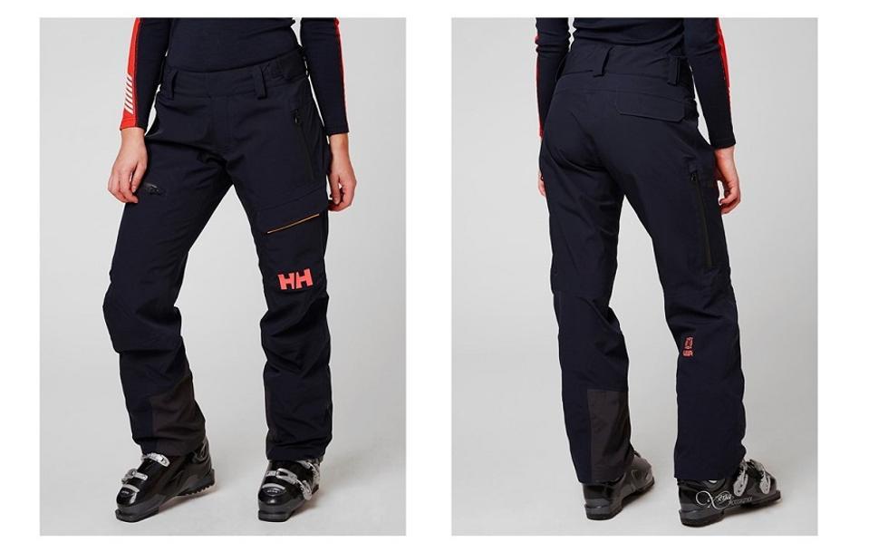 Woman in Helly Hansen ski pants