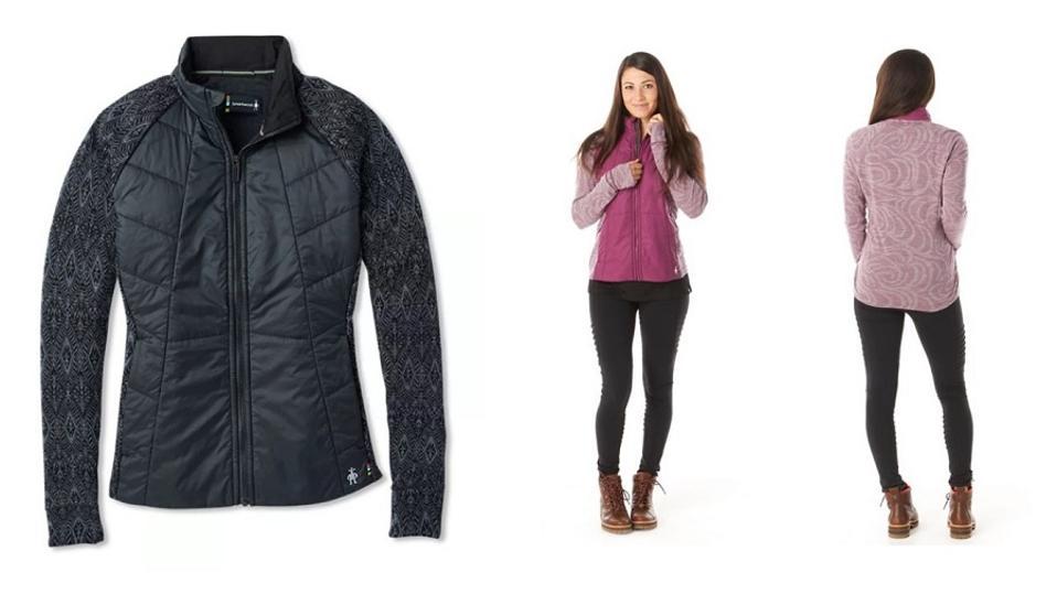 Woman in Smartwool merino wool jacket