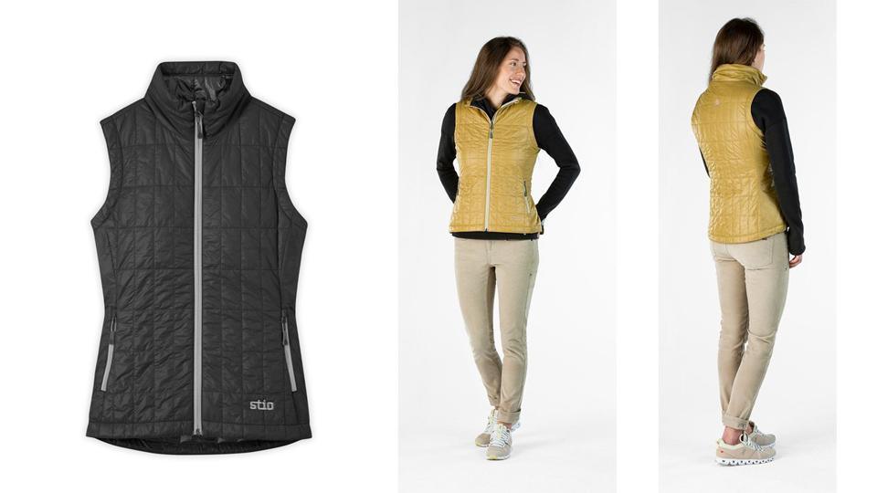 Woman in Stio lightweight insulated vest