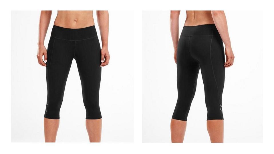 woman in 2XU compression tights or leggings