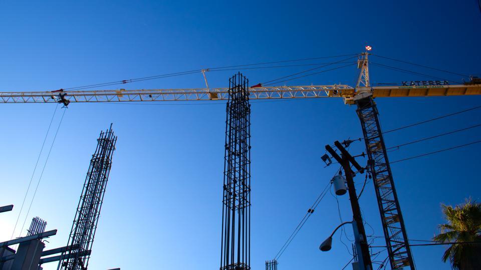 Cranes in downtown Phoenix