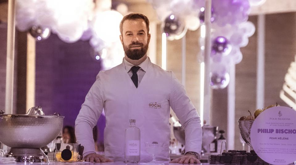 Mixologist Philip Bischoff of the upcoming Four Seasons Hotel Bangkok at Chao Phraya River
