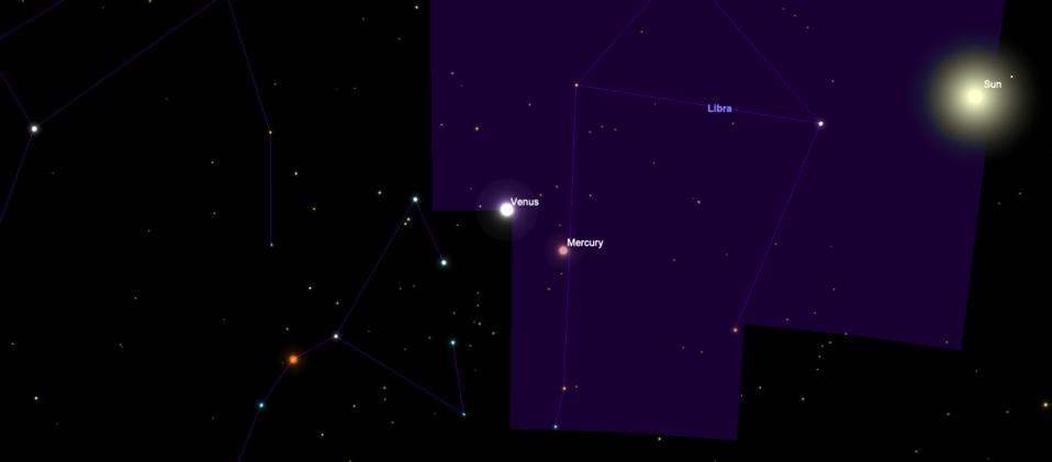Mercury and the sun are in Libra right now, not Scorpius as astrologers pretend.