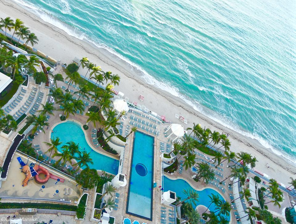 Beach, pools, Diplomat Hotel, Hollywood, Florida