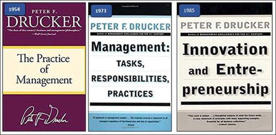Drucker's three books