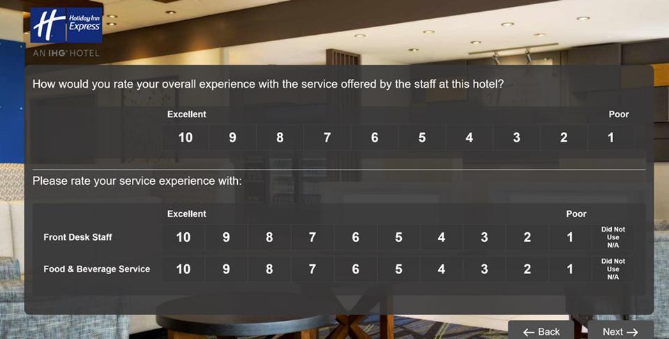 Holiday Inn Express survey -1