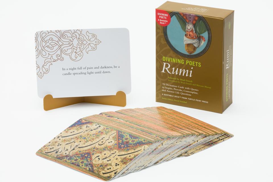 rumi poet poetry poems divining poets turtle point press brad gooch tarot deck