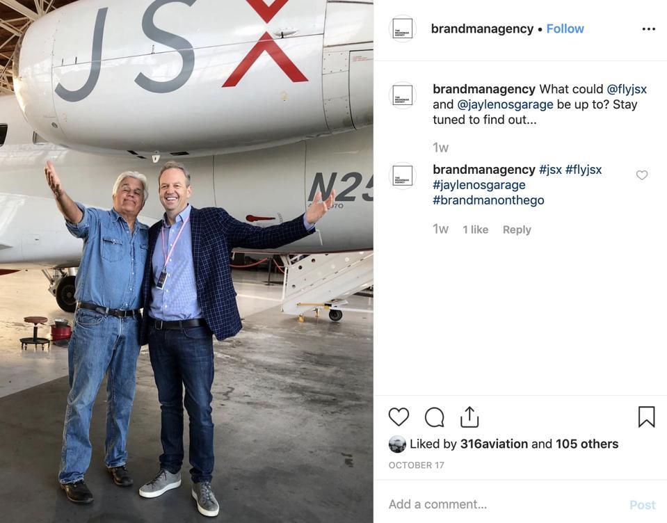 Jay Leno private jet