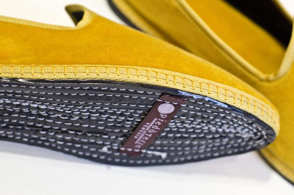 The soles of furlane shoes are made from bicycle tyres.