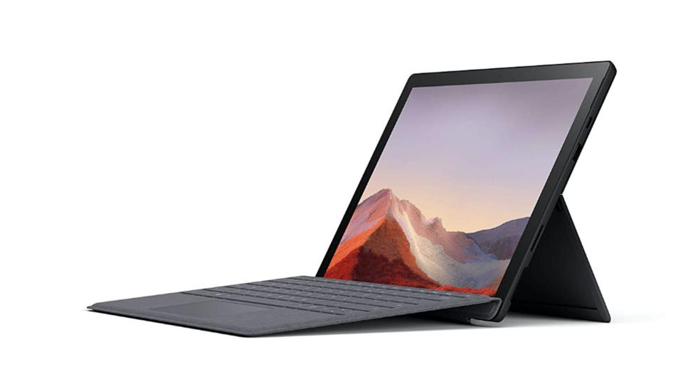 Microsoft Surface Pro 7 with optional type cover