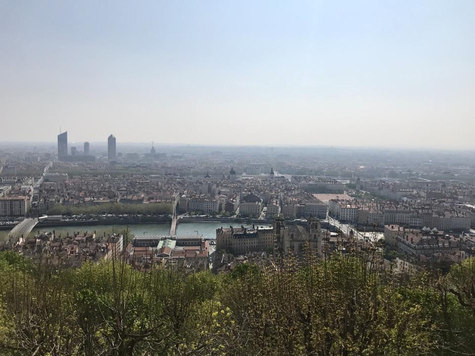 View from Basilica of Notre Dame de Fourviere