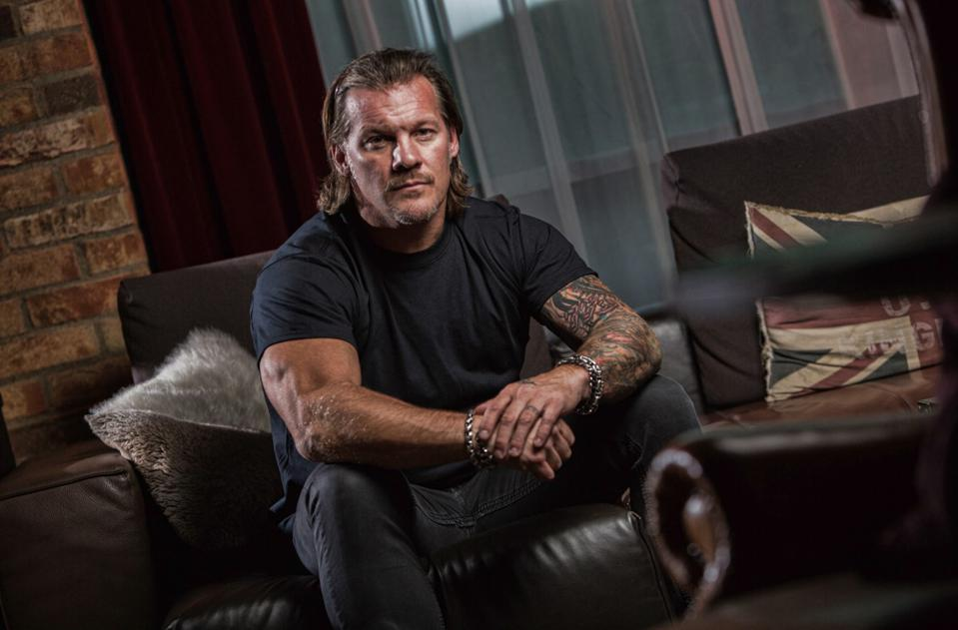 Chris Jericho in a contemplative pose