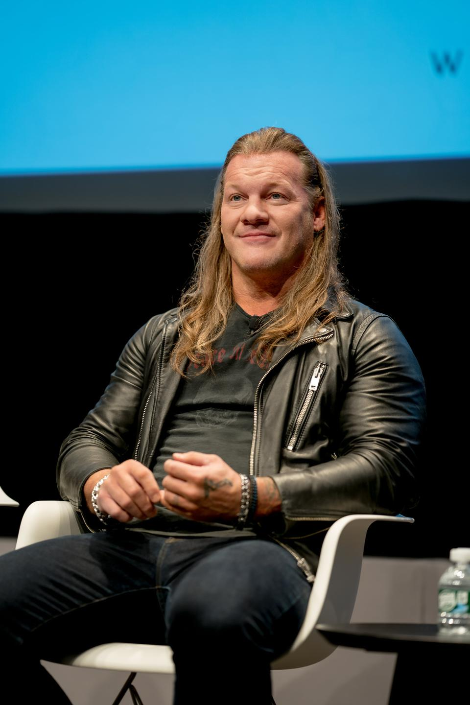Chris Jericho at IAB Podcast Upfront for Westwood One Panel discussion