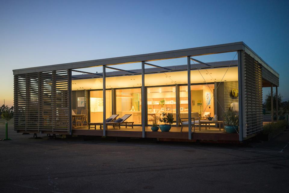 The SU+RE House was built by the students of Stevens Institute of Technology for the Solar Decathlon.