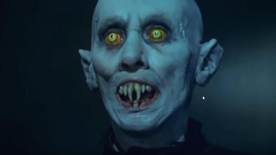 Vampire's face from the ''Salem's Lot' 1979 TV serial based on Stephen King's novel