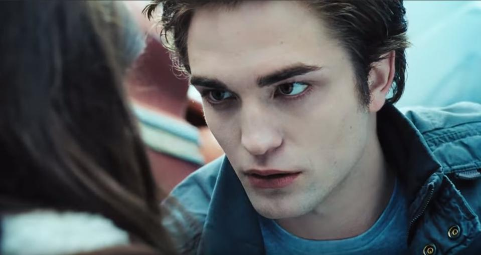 The vampire as teenage heartthrob from the first Twilight film