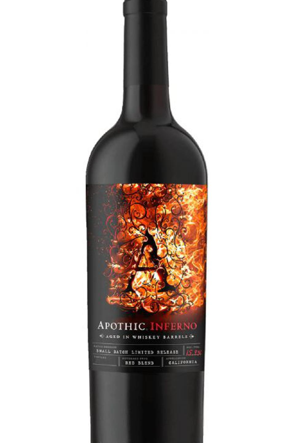 Apothic's Inferno red blend is a spirit-aged wine.