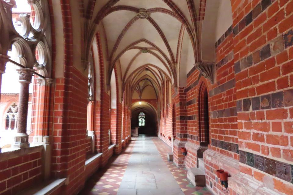 Gothic hallways at Malbork