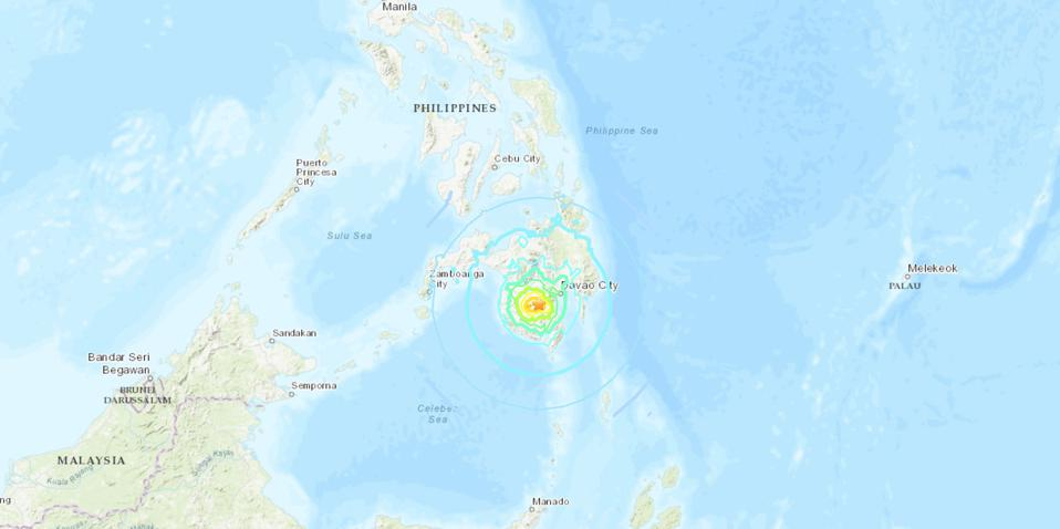 Shakemap of the recent Earthquake in the Philippines