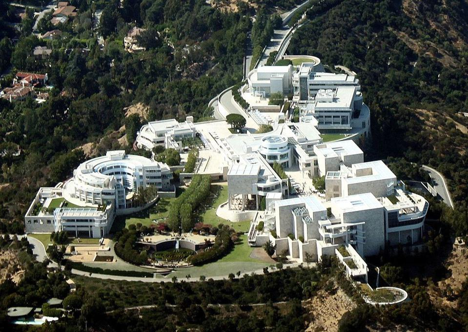This image depicts a topside view of the Getty Center campus.