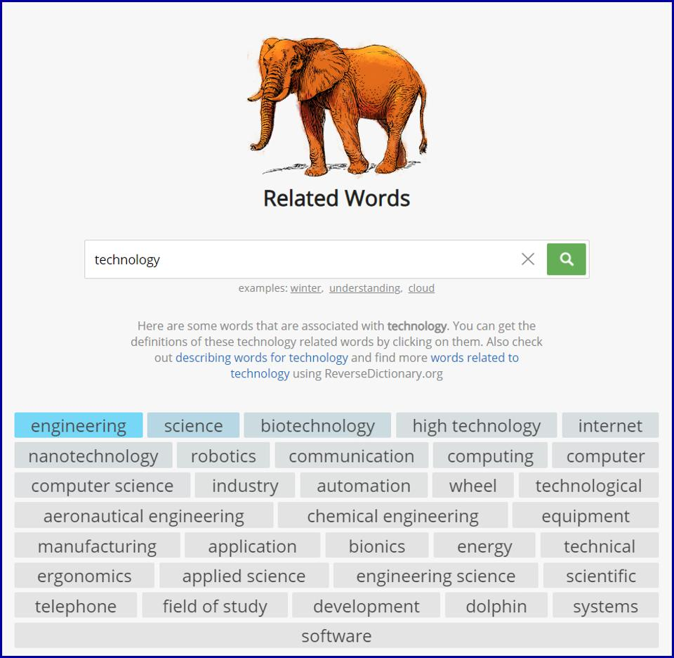 Forbes RelatedWords Thesaurus