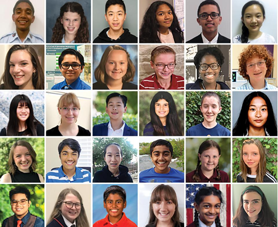These kids are the 30 finalists in this year's competition.