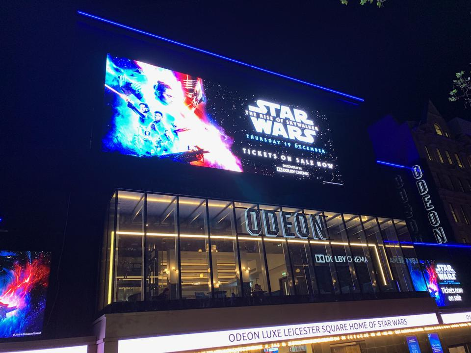 The Odeon Leicester Square's Dolby Cinema will be a perfect match to Star Wars: The Rise of Skywalker