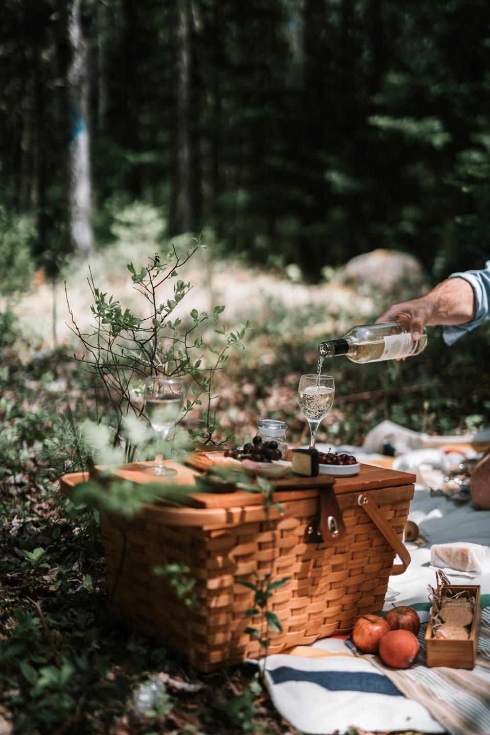 A chef-prepared picnic lunch