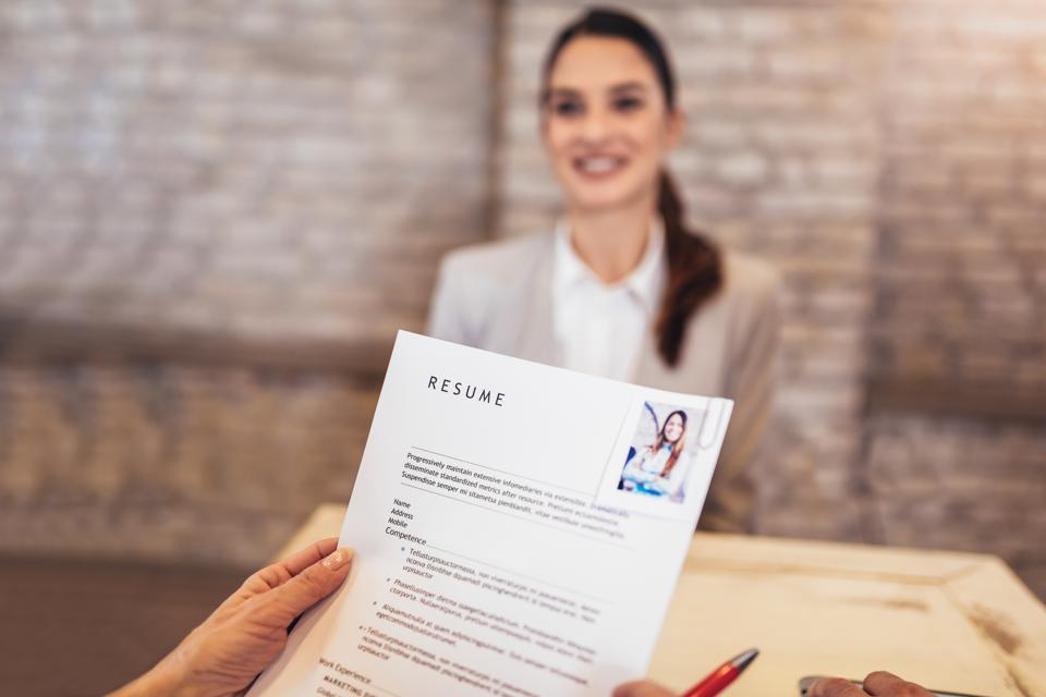 Job applicants with resume
