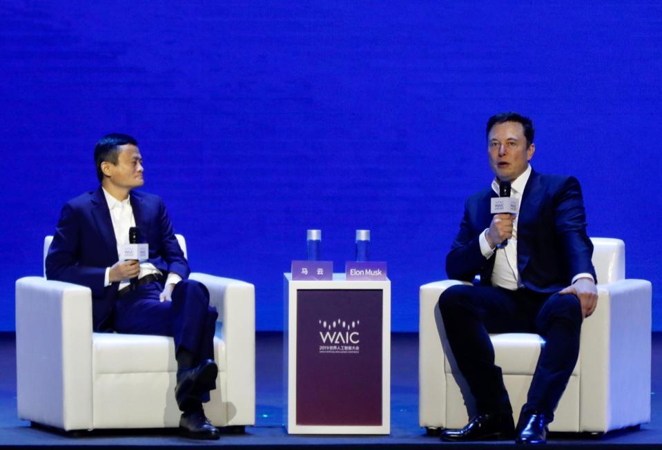 Alibaba's Jack Ma and Elon Musk.