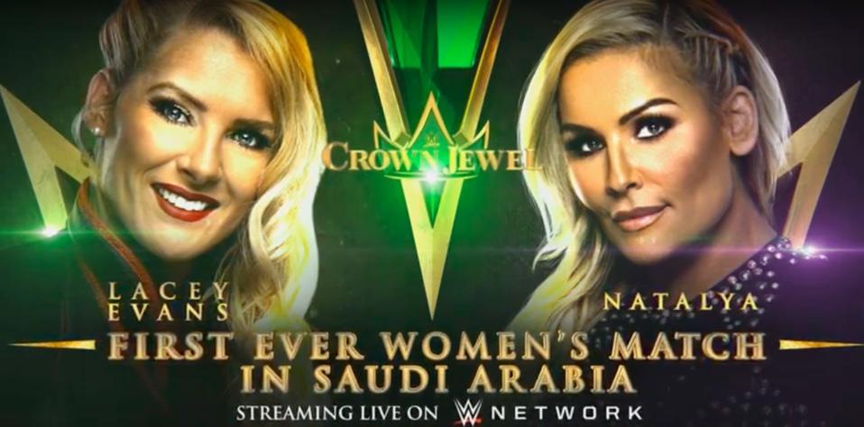 WWE Crown Jewel Lacey Evans Natalya Saudi Arabia Riyadh Season King Fahd Stadium
