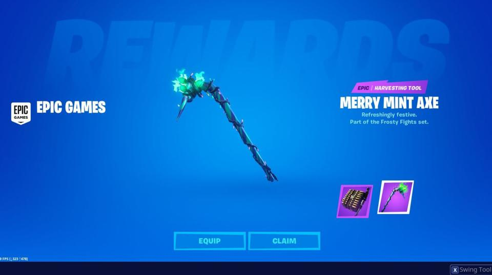 Minty Codes How To Get The Merry Mint Pickaxe In Fortnite