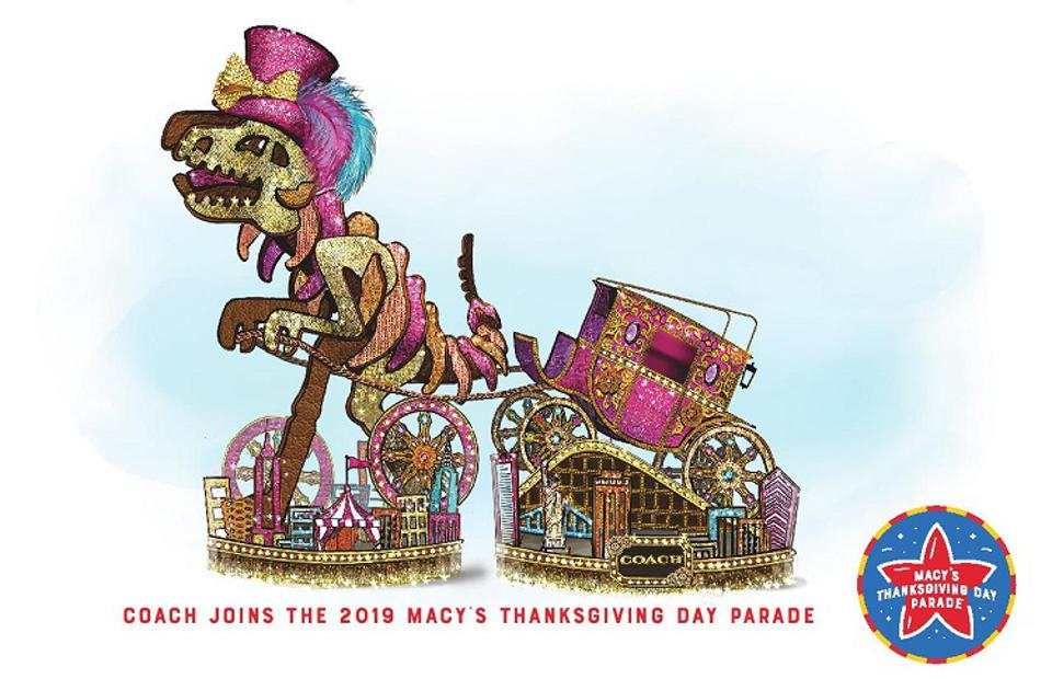 A rendering of Coach's Macy's Thanksgiving Day Parade float.