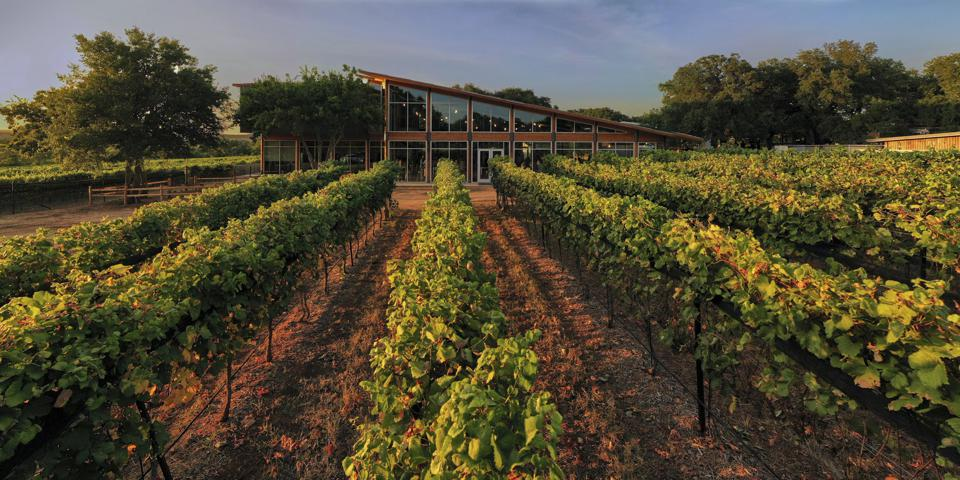The new tasting room at William Chris Vineyards in Hye, Texas.