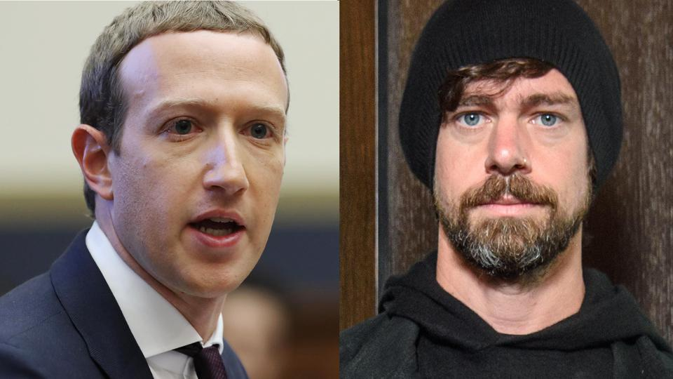 Image result for Mark Zuckerberg and Jack Dorsey