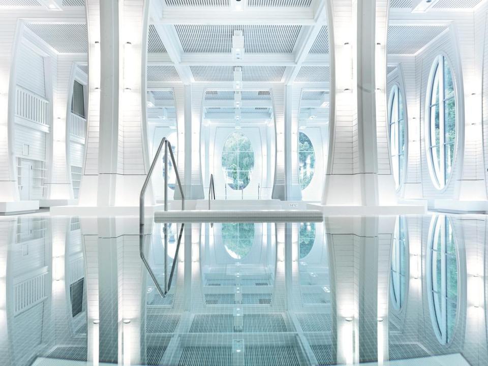 The Taomina thermal baths at Grand Resort Bad Ragaz.