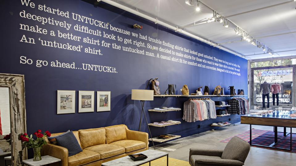 The UNTUCKit story is simple, short, and memorable