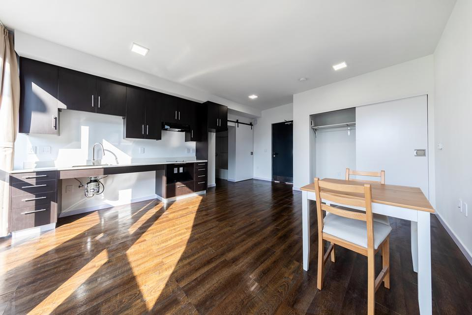 Hope On Alvarado interior. The five-story Hope on Alvarado project offers studios and one-bedroom apartments, ranging from 400-480 square feet.