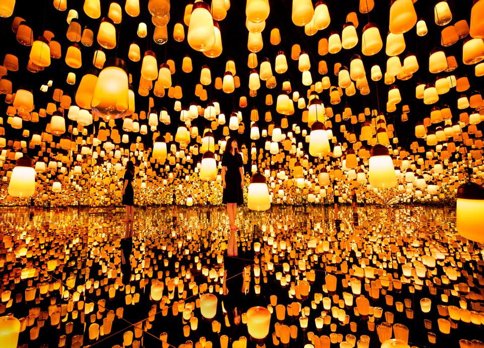 teamLab Borderless Shanghai Forest of Resonating Lamps