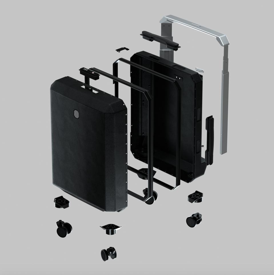 Modular suitcase design