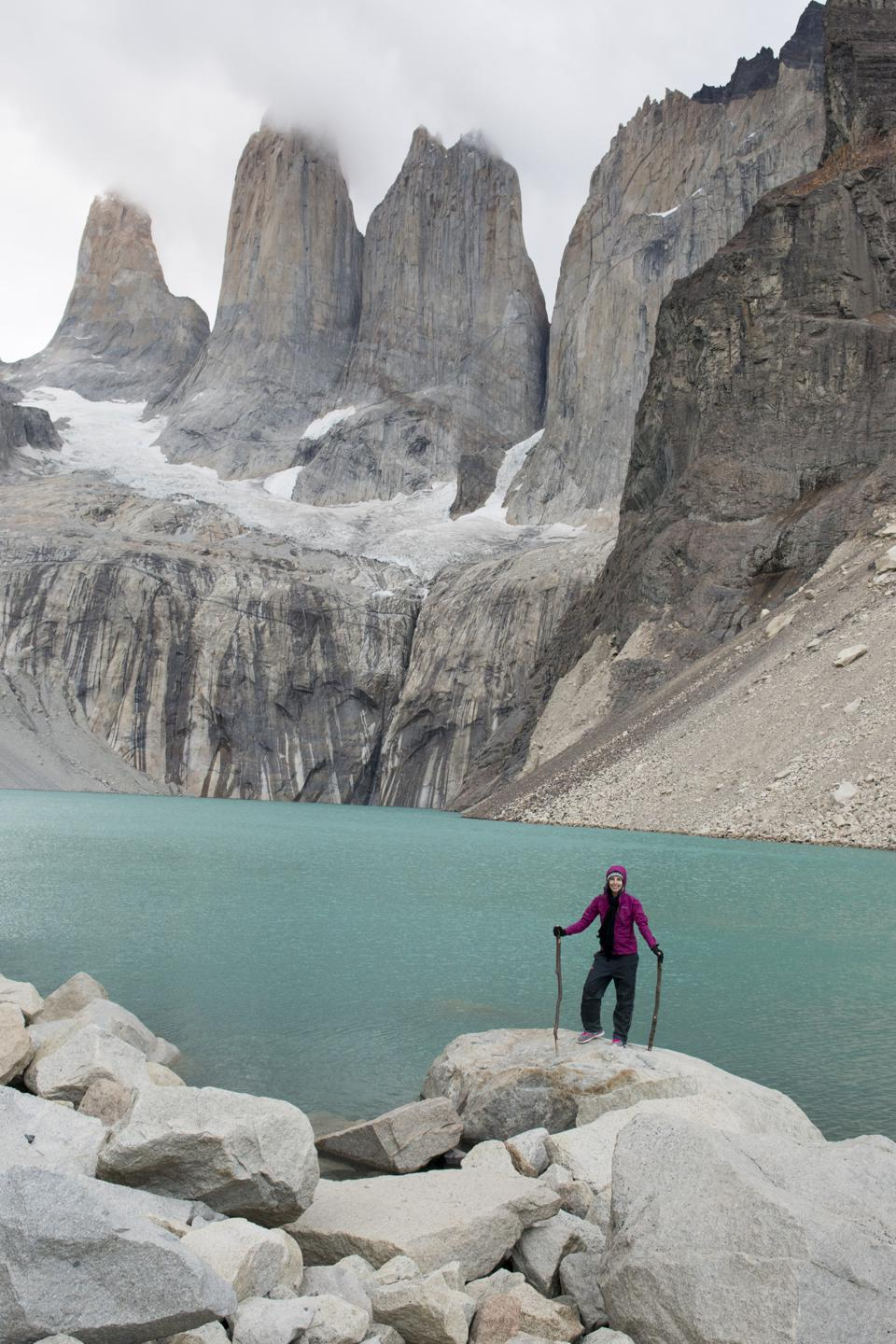Picture in Chile millennial Mazurek recommends investing in good adventure equipment.
