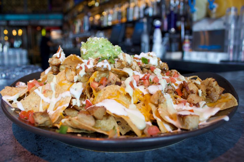 Nachos Libres at El Chingon, located in downtown San Diego.