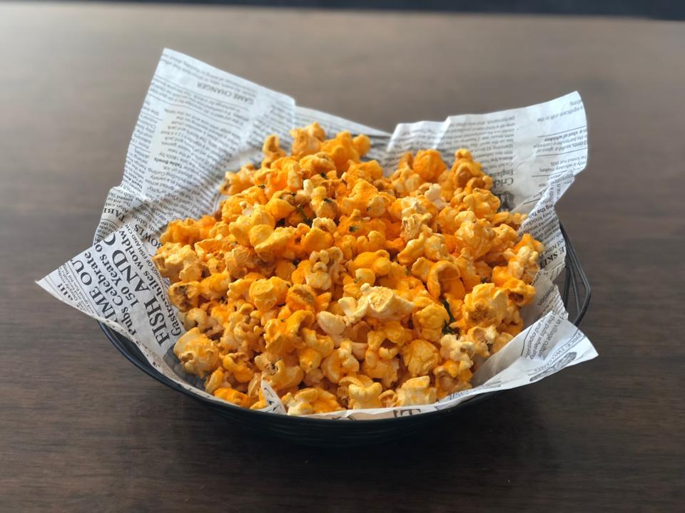 Jalapeño Cheddar Popcorn at San Diego's Theatre Box.