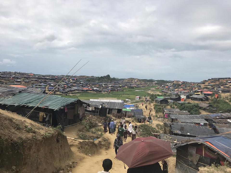 An estimated 900,000 Rohingya have fled Myanmar and settled in refugee camps in Cox's Bazar, Bangladesh.
