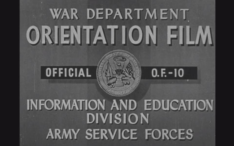 Opening credits, US wartime propaganda film ″Know Your Enemy: Japan″