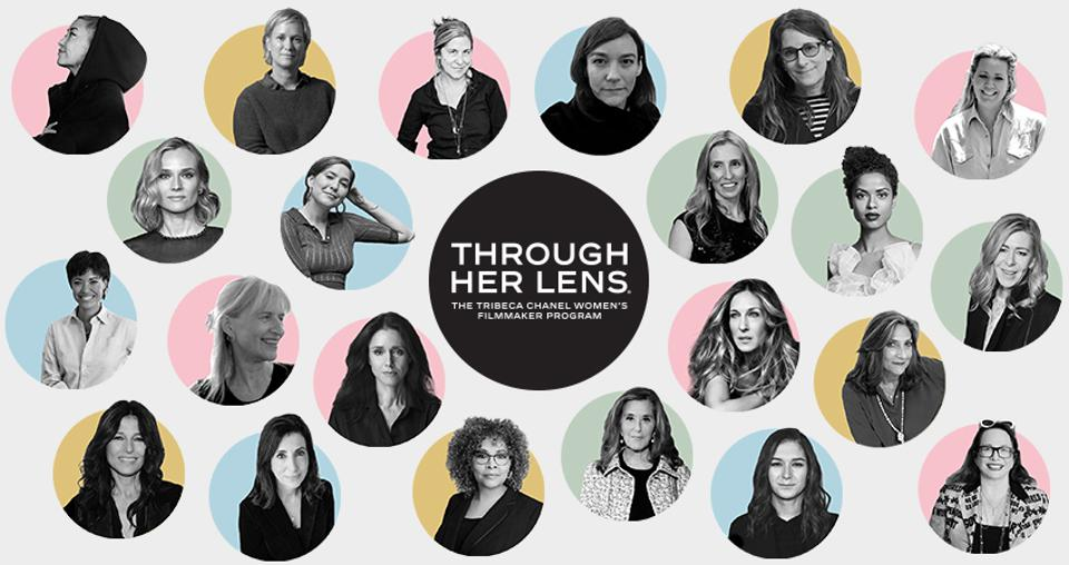 Participants and collaborators of Through Her Lens: The Tribeca Chanel Women's Filmmaker Program.